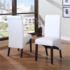 Modus Cosmo Sleigh Back Dining Chair in Cloud (Set of 2)