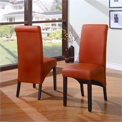 Modus Cosmo Sleigh BackParsons Dining Chair in Sienna (Set of 2)