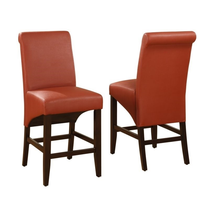Modus Furniture Cosmo Counter Height Dining Chair in Sienna (Set of 2)