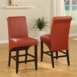 Modus Cosmo Sleigh Back Counter Height Dining Side Chair in Sienna (Set of 2)
