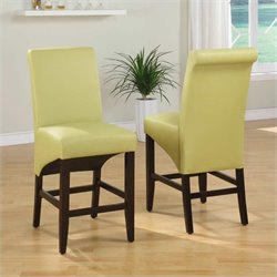 Modus Cosmo Sleigh Back Stool in Kiwi (Set of 2)