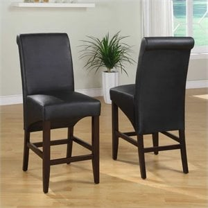 Modus Cosmo Sleigh Back Dining Chair in Jet Black (Set of 2)