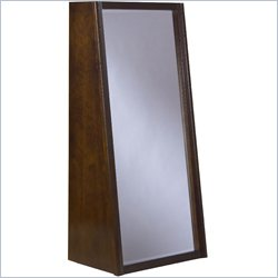 Modus Furniture Legend Wood Bookcase Back Floor Mirror in Chocolate