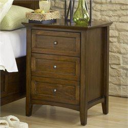 Modus Furniture Paragon Three Drawer Nightstand in Truffle