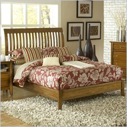 Modus Furniture City II Rake Bed in Pecan - Full