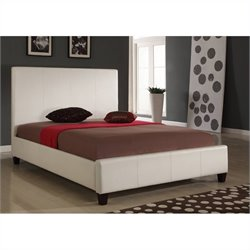 Modus Furniture Mambo Upholstered Panel Bed in Ivory - Full
