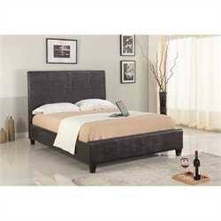 Modus Furniture Mambo Upholstered Panel Bed in Chocolate - Full
