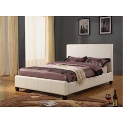 Modus Furniture Mambo Upholstered Platform Bed in Ivory - Full