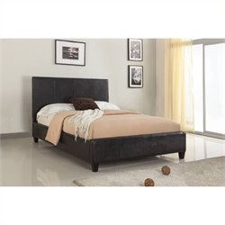 Modus Furniture Mambo Upholstered Platform Bed in Chocolate