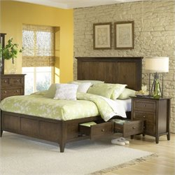 Modus Furniture Paragon Four Drawer Storage Bed in Truffle  - Queen