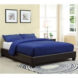 Modus Furniture Ledge Upholstered Platform Bed in Chocolate - Twin