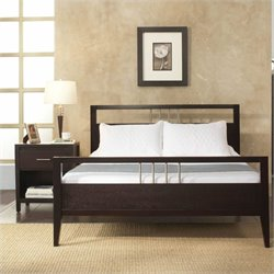 Modus Furniture Nevis Tropical Mahogany Platform Bed 3 Piece Bedroom Set