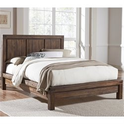 Modus Furniture Meadow Solid Wood Platform Bed in Brick Brown - King
