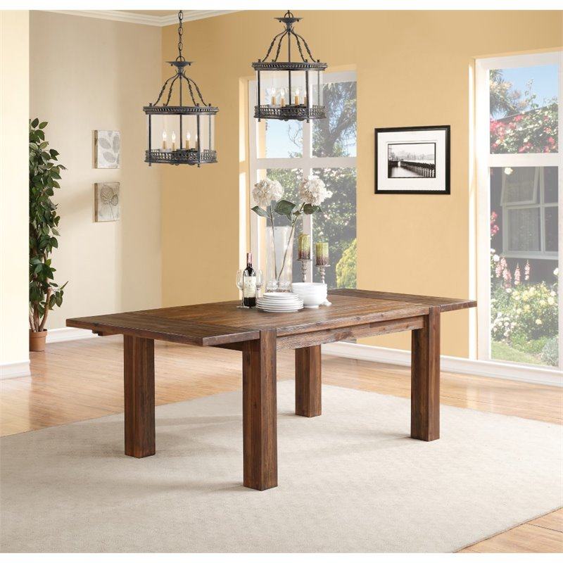 Modus Furniture Meadow Rectangular Dining Table In Brick Brown 3f4161