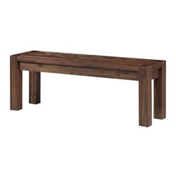 Modus Furniture Meadow Solid Wood Bench in Brick Brown
