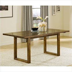 Modus Furniture Alba Solid Wood Dining Table in Honey