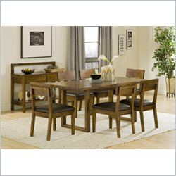 Modus Furniture Alba Solid Wood 7 Piece Dining Set in Honey