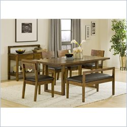 Modus Furniture Alba Solid Wood 6 Piece Dining Set in Honey