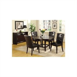 Modus Furniture Bossa 6 Piece Dining Set in Dark Chocolate and Black