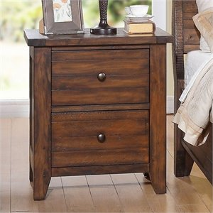 Modus Furniture Cally Nightstand in Medium Brown