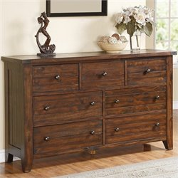 Modus Furniture Cally Dresser in Medium Brown