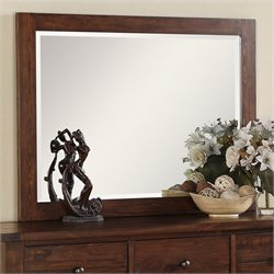 Modus Furniture Cally Mirror in Medium Brown
