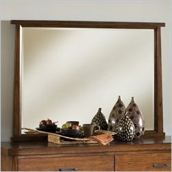 Modus Furniture Stella Mirror in Medium Brown