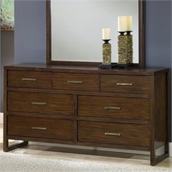 Modus Furniture Uptown Dresser in Medium Brown