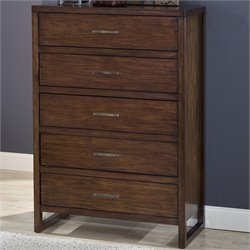Modus Furniture Uptown Chest in Medium Brown