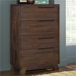 Modus Furniture Portland Secretary Chest in Walnut