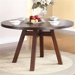 Modus Furniture Portland Round Dining Table in Walnut