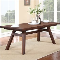 Modus Furniture Portland Rectangular Extension Table in Walnut