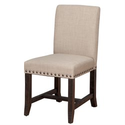 Modus Furniture Yosemite Upholstered Dining Chair in Cafe (Set of 2)