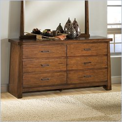 Modus Stella Dresser and Mirror in Medium Brown