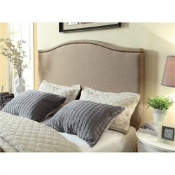 Modus Geneva Camelback Panel Headboard in Beige  - Queen