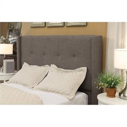 Modus Geneva Tufted Wingback Panel Headboard in Gray