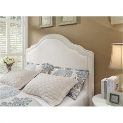Modus Geneva Scroll Panel Headboard in Ivory - Queen