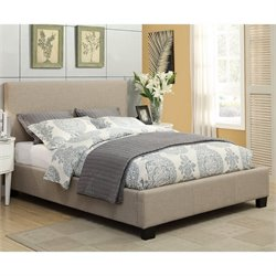 Modus Geneva Linen Platform Bed in Toast - Queen