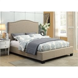 Modus Geneva Camelback Platform Bed in Toast - Queen