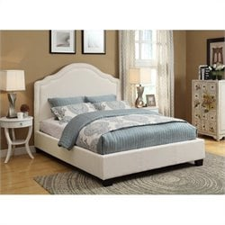 Modus Geneva Scroll Platform Bed in Ivory - Queen