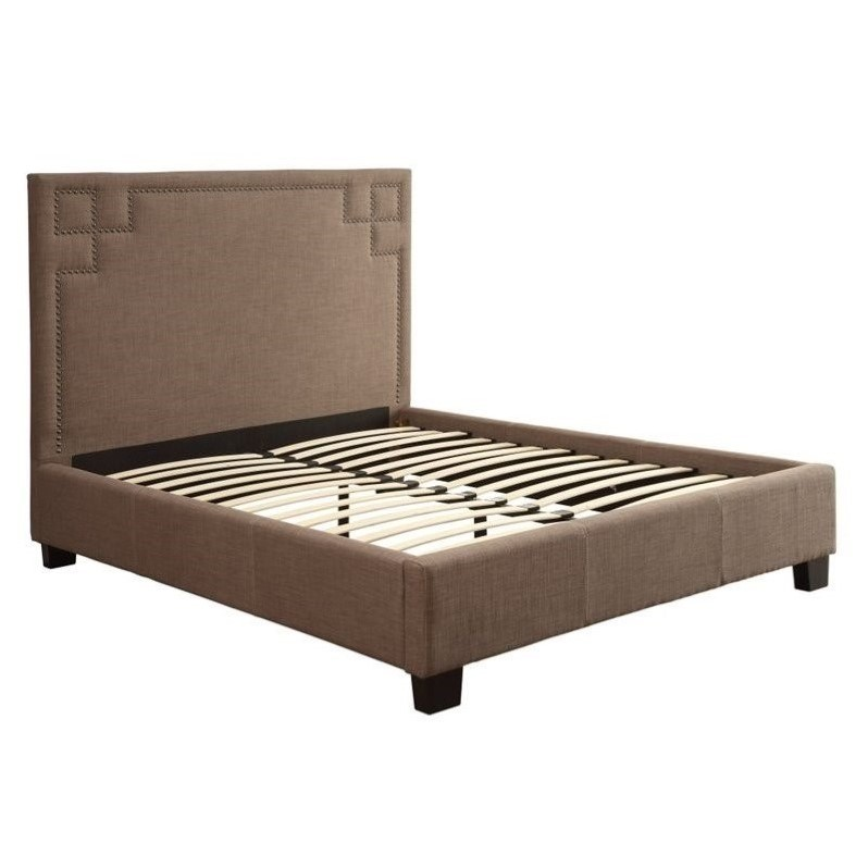 Modus Geneva Tufted Platform Bed In Dolphin 3zh3lx11