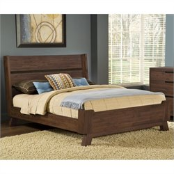 Modus Portland Platform Bed in Medium Walnut - king