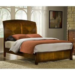 Modus Brighton Wood Low Profile Sleigh Bed in Cinnamon Finish - California King