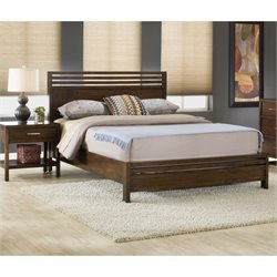 Modus Furniture Uptown 3 Piece Bedroom Set with 2 Nightstands in Truffle