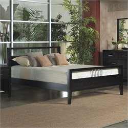 Modus Furniture Nevis Tropical Mahogany Modern Platform Bed in Espresso - Twin