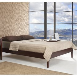 Modus Furniture Newport Simple Platform Bed in Cordovan - Twin