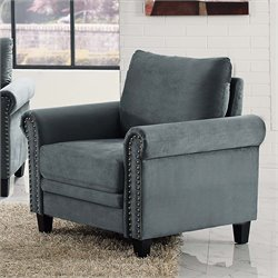Lifestyle Solutions Fallon Chair in Gray