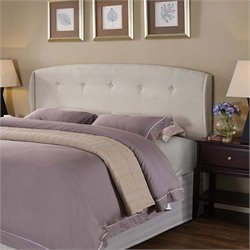 Lifestyle Solutions Lyon Upholstered Queen Headboard in Ivory