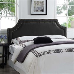 Lifestyle Solutions Bristol Upholstered Queen Headboard in Black