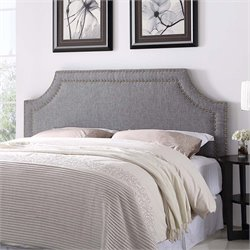 Lifestyle Solutions Bristol Upholstered Queen Headboard in Gray